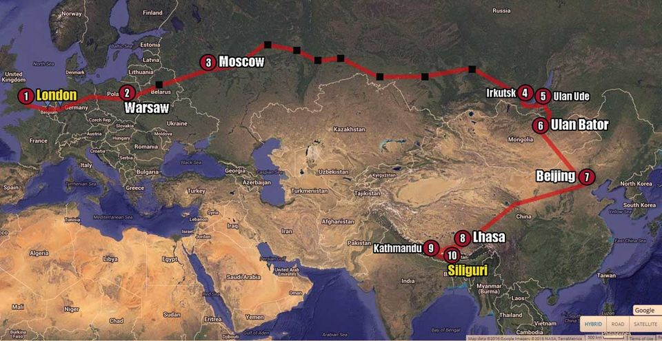 The long way home - Prologue - 17500 km overland to reach my hometown!
