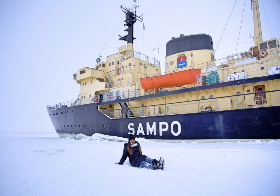 Photos of Europe Has A Frozen Sea. And Turns Out, You Can Float And CruiseThrough It 1/1 by Deepa Subramanian