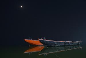 Night Photography At Varanasi