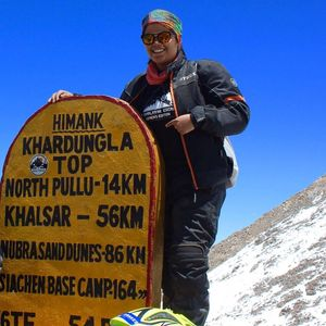 At 19, This DU Biker Could Be The Youngest Woman To Ride To Khardung La