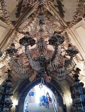 Bone Chilling Church at Kutna Hora, Czech Republic