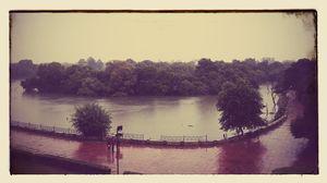 Rainy day travel to Hauz Khas