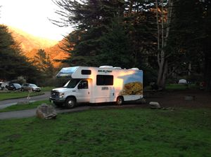 RV camping in California